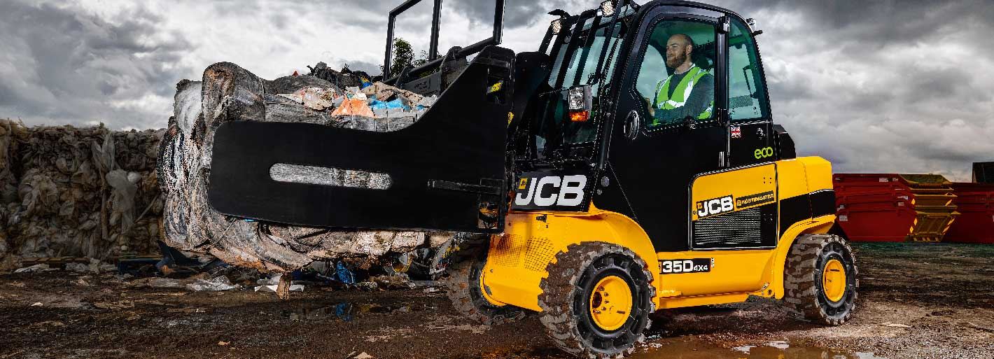 0% Interest Hire Purchase over 3 years on JCB Wastemaster Teletruk Available on machines ordered by 30.06.2019.