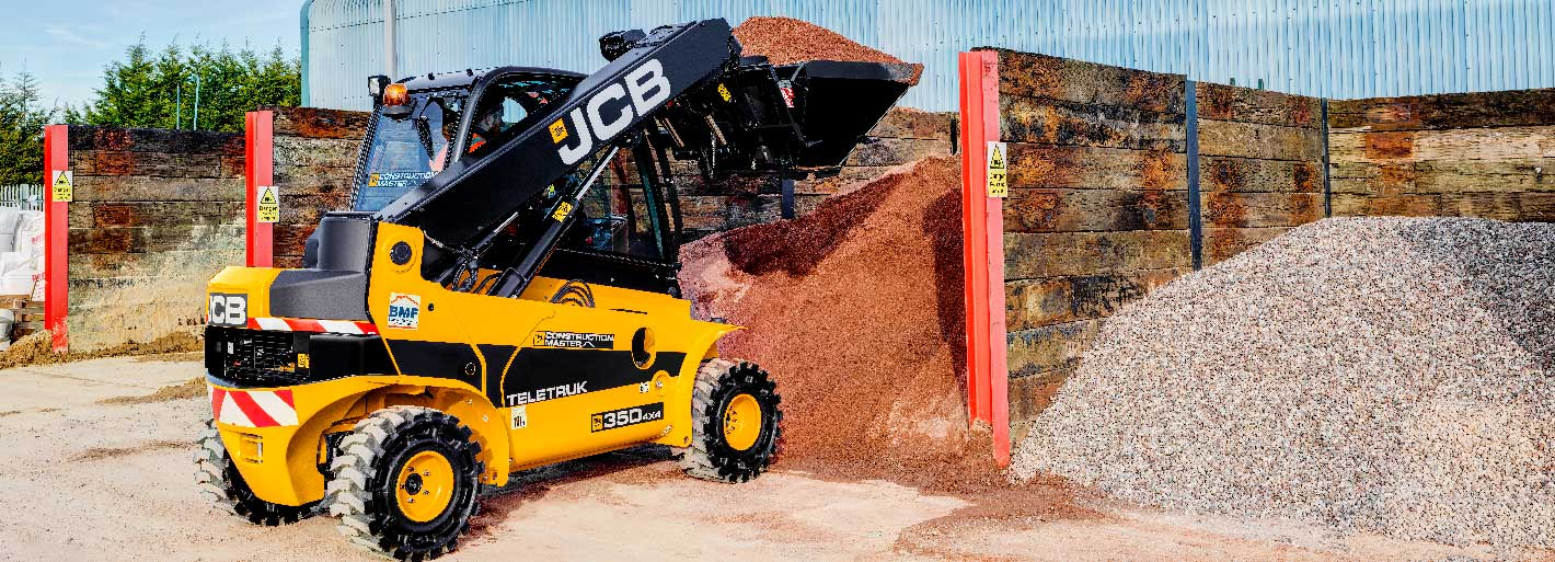 0% Interest HP over 3 years on new JCB Construction Master Teletruk Available on machines ordered by 30.06.2019.