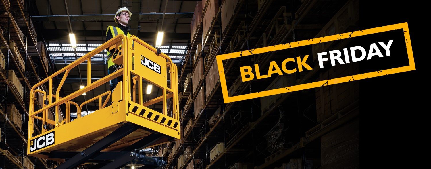 Black Friday Offer on JCB S2646E and S4046E Access models Available on machines ordered 27.11.2020  for delivery by 31.12.2020.